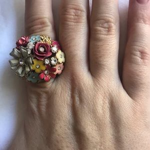 Juicy Couture Chunky Floral Cocktail Ring